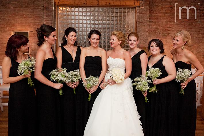A photo of the bridesmaids at a wedding at 99 sudbury