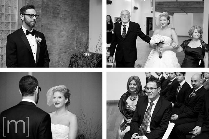Candids of the wedding ceremony at 99 sudbury