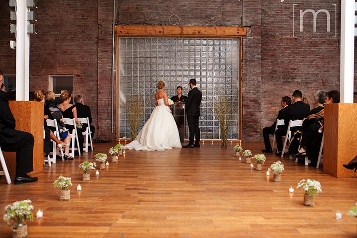 A photo of the wedding ceremony at 99 sudbury