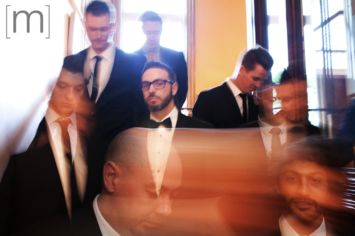 A photo of the groomsmen at gladstone hotel