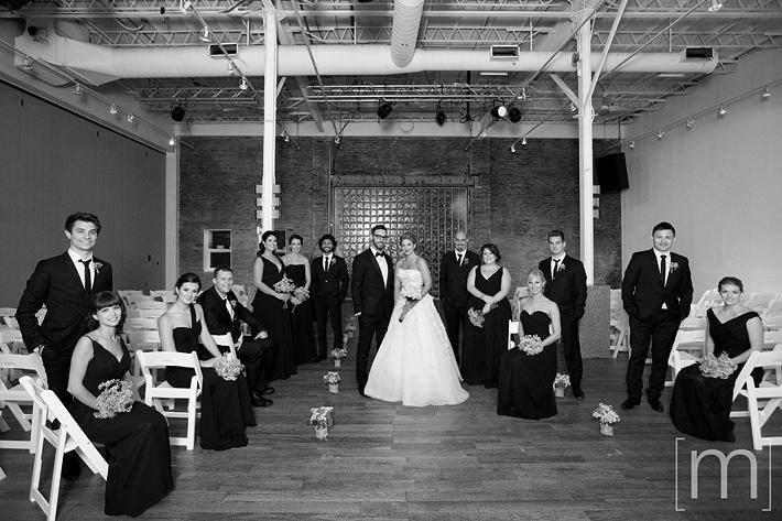 A photo of the wedding party at a wedding at 99 sudbury