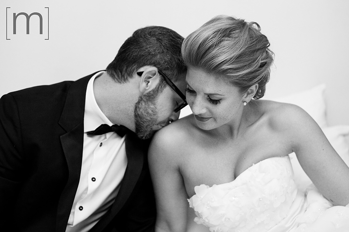 A portait of the bride and groom at the gladstone hotel