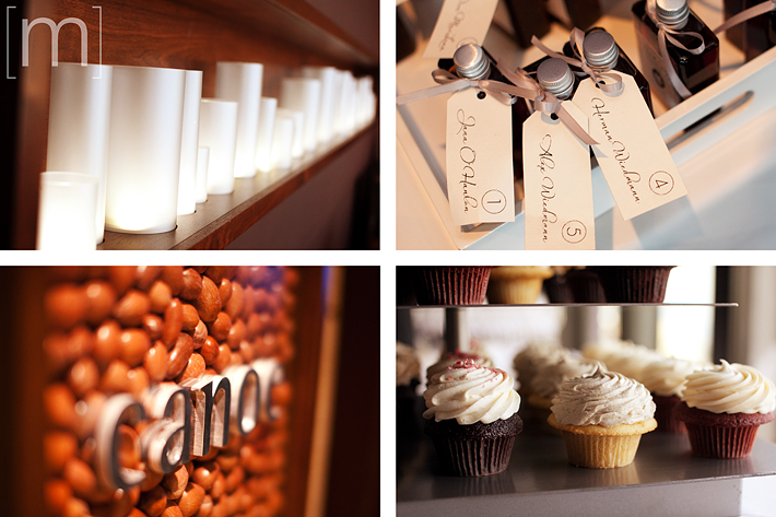 A photo of details of a wedding at canoe restaurant