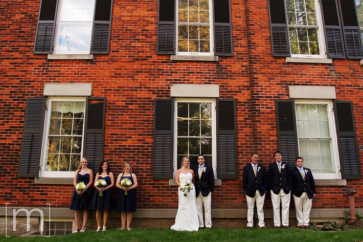 a photo of a wedding party at erchless estate in oakville