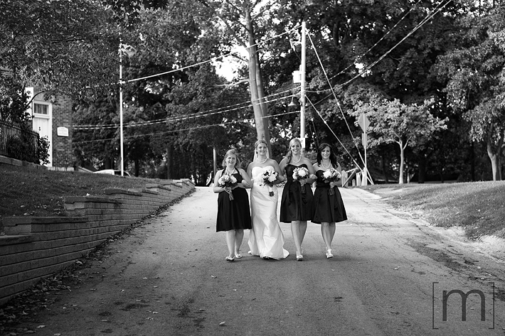 a photo of the bridesmaids at erchless estate in oakville
