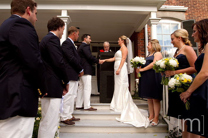 a photo of a wedding ceremony at erchless estate in oakville