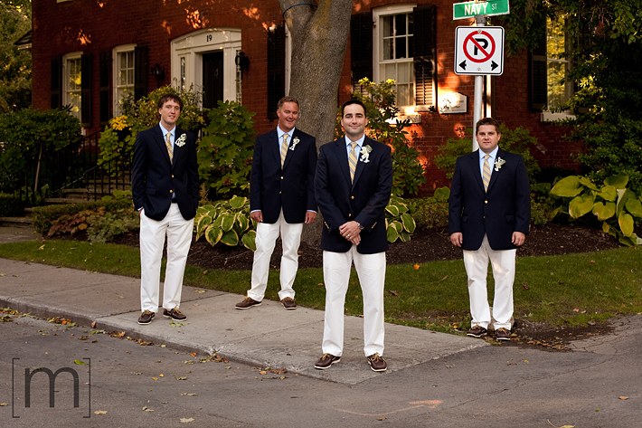 a photo of the groomsmen at erchless estate in oakville