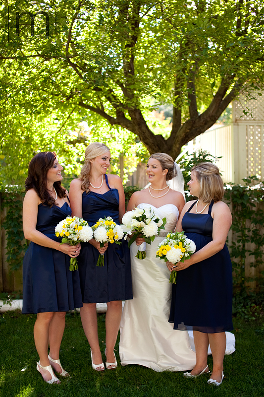 a photo of the bridesmaids laughing at the oakville club