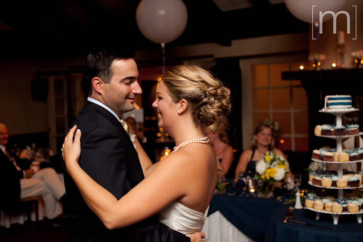 a photo of the first dance at a wedding at the oakville club
