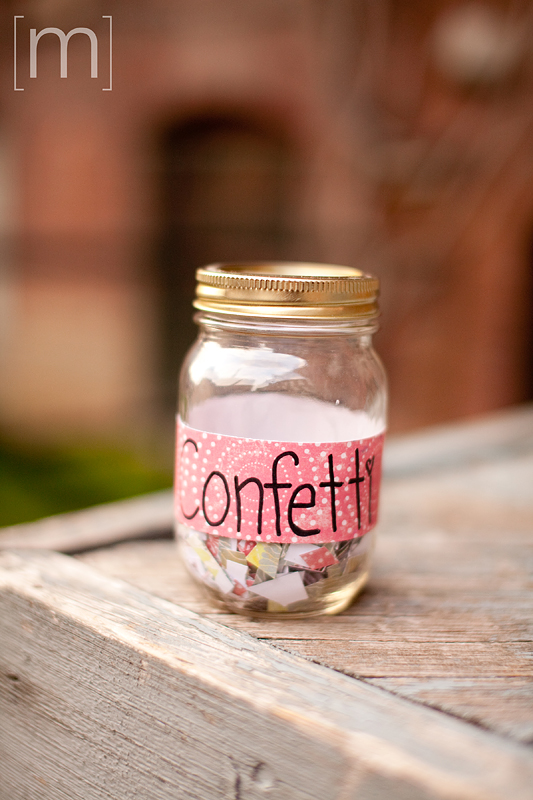 a photo of a confetti jar at an e-shoot at liberty village toronto