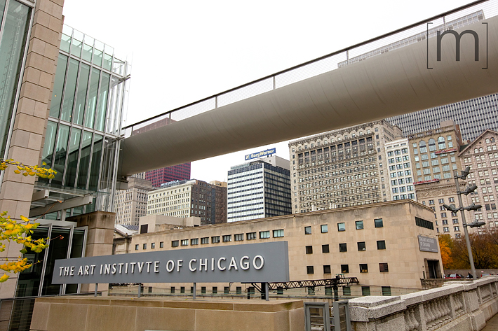 a travel photo of the art institute in chicago