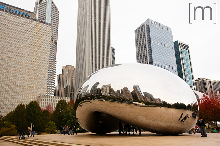 a travel photo of the bean in chicago
