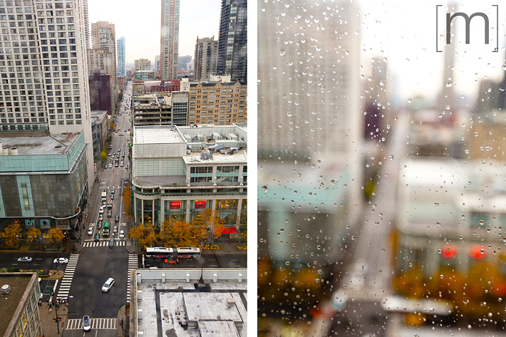 a travel photo of a rainy day in chicago