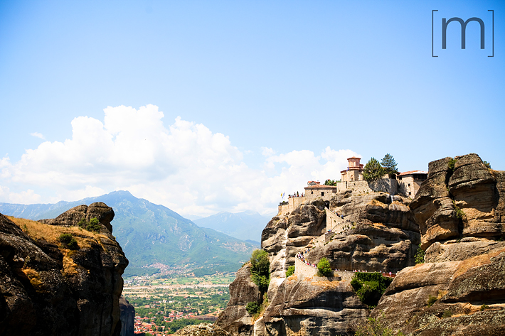 a travel photo of a monastery in meteora greece