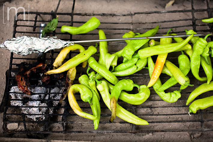 a travel photo of peppers cooking in meteora greece