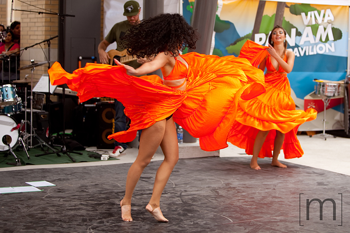 a photo of dancers at a canada day event in mississauga