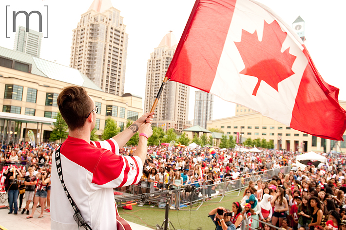 a photo of a flag at a canada day event in mississauga