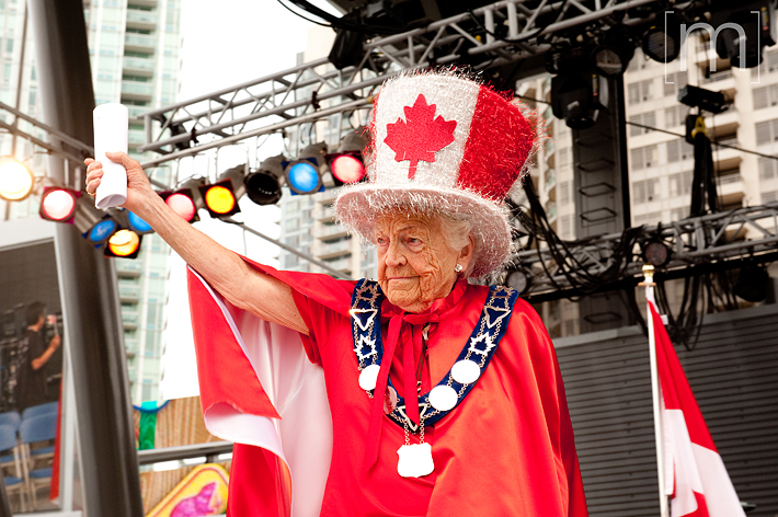 a photo of mayor mccallion at a canada day event in mississauga