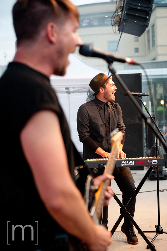 a photo of young empires at a canada day event in mississauga