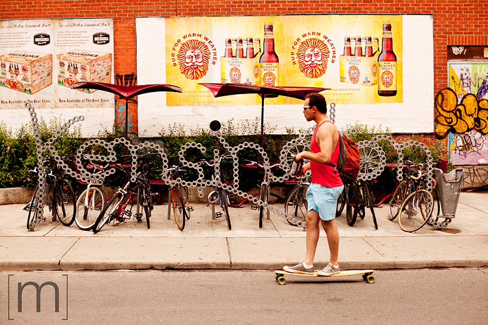 a photo of kensington market sign toronto