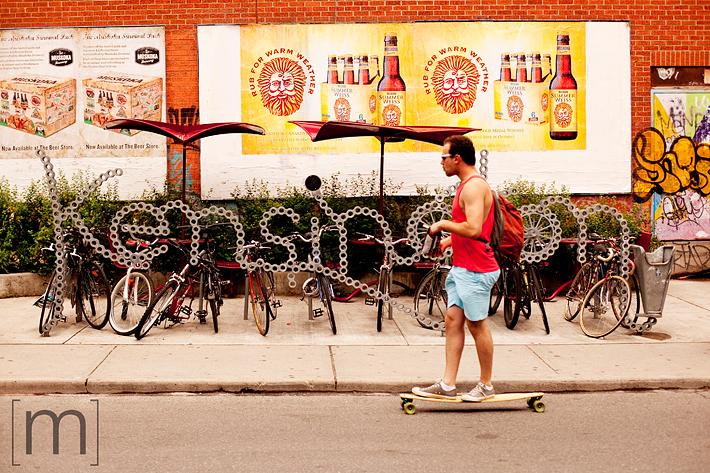 a photo of kensington market sign toronto