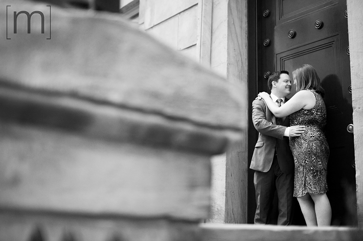 a photo of a couple at an engagement shoot at bce place toronto