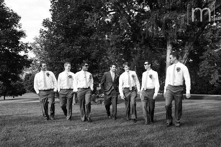 a photo of the groomsmen at a wedding at wooden sticks uxbridge
