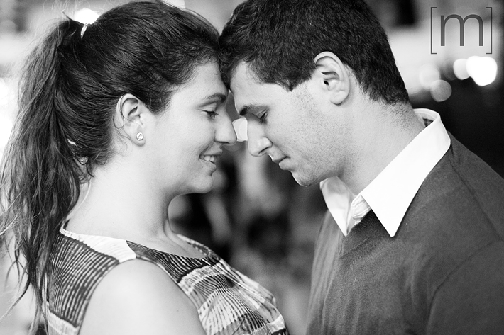 a photo of the happy couple on at an engagement shoot at the cne toronto