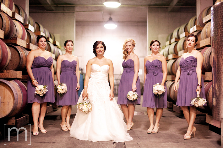 a photo of the bridesmaids at a wedding in chateau des charmes niagara on the lake