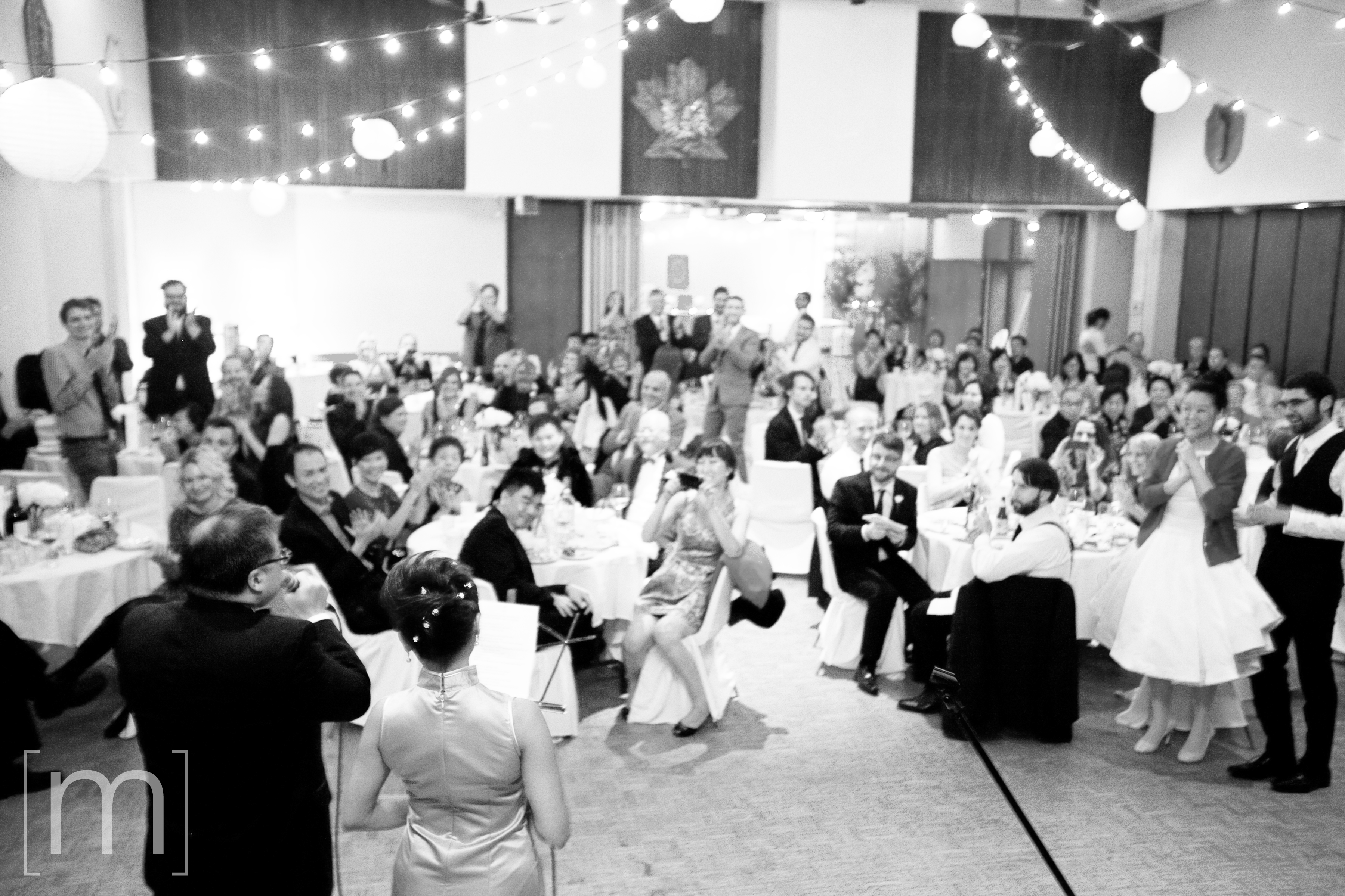 a photo of a reception at a wedding at beverley halls toronto