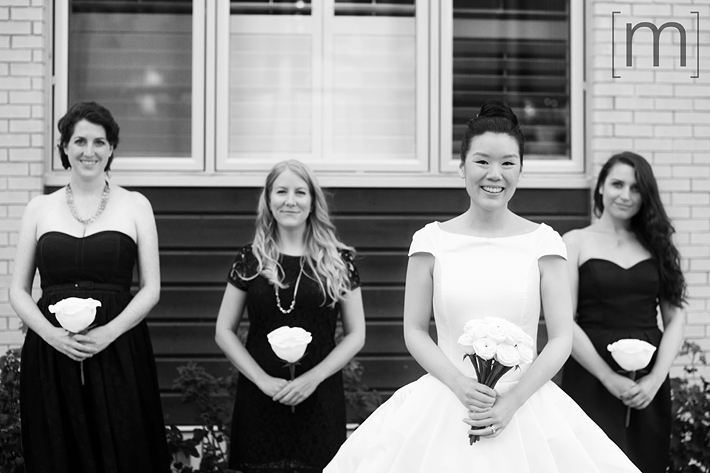 a photo of the bridesmaids at a wedding at the university of toronto