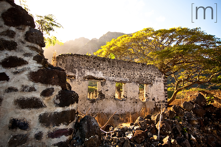 a travel photo of ruins on the big island in hawaii