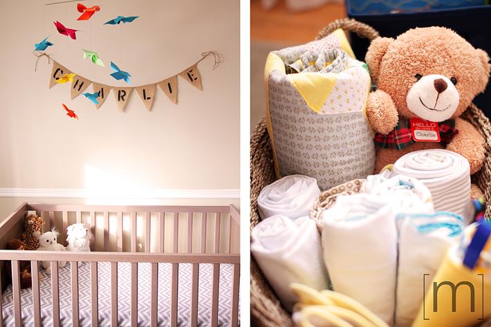 a photo of a baby's crib at new born photoshoot in hamilton