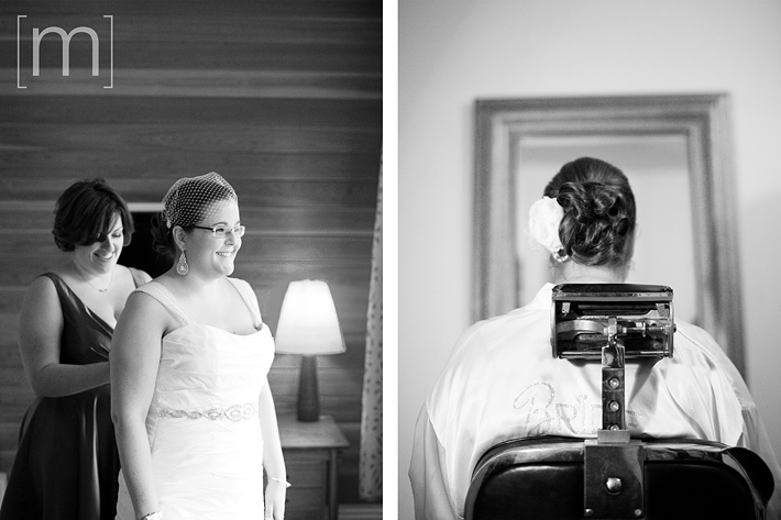 a photo of a bride getting ready at a wedding at the gladstone hotel toronto