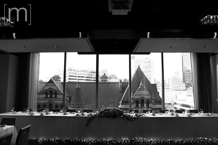 a photo of a big windows at a wedding at arcadian loft toronto