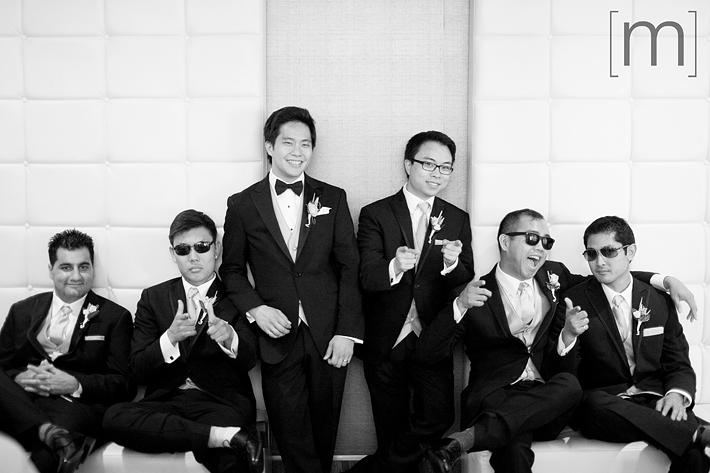 a photo of groomsmen at a wedding at arcadian loft toronto