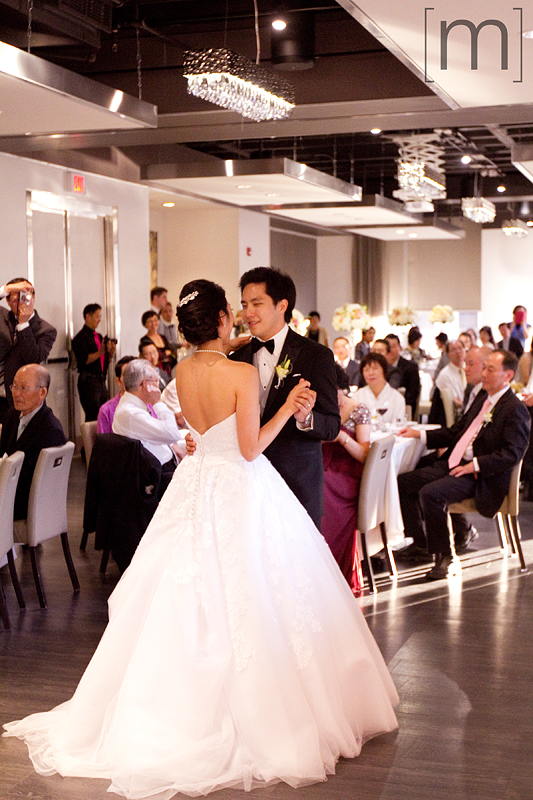 a photo of the first dance at a wedding at arcadian loft toronto