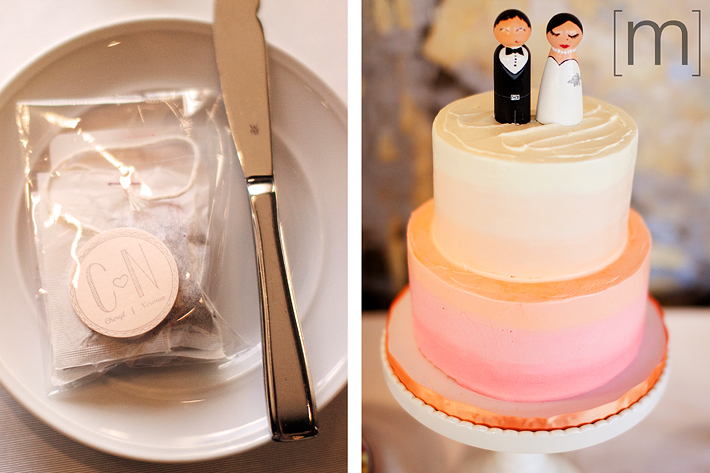 a photo of a cake topper at a wedding at arcadian loft toronto