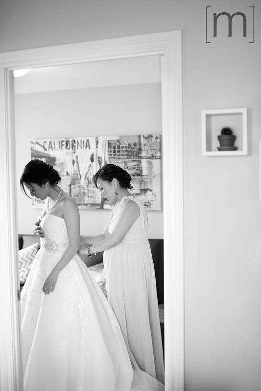 a photo of a bride getting ready at a wedding at arcadian loft toronto