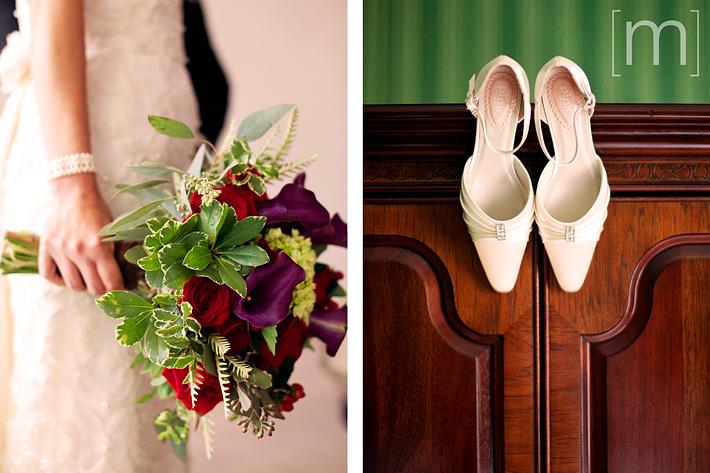 a photo of the bridal flowers at a wedding at king edward hotel toronto