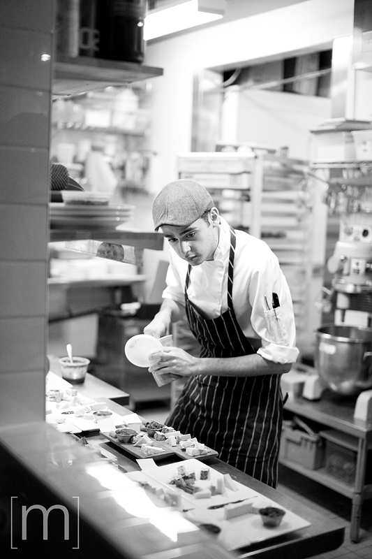 a photo of a chef prepping at a wedding reception at richmond station toronto