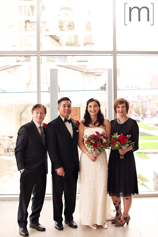 a photo of a wedding party at st james cathedral centre toronto