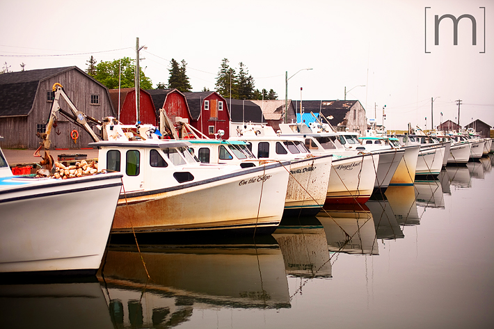 a travel photo of the boat harbour in pei