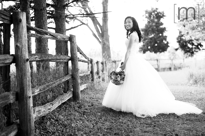 a photo of a bride at a wedding at angus glen golf club markham