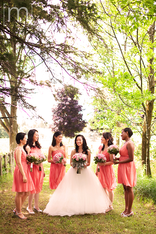 a photo of bridesmaids at a wedding at angus glen golf club markham