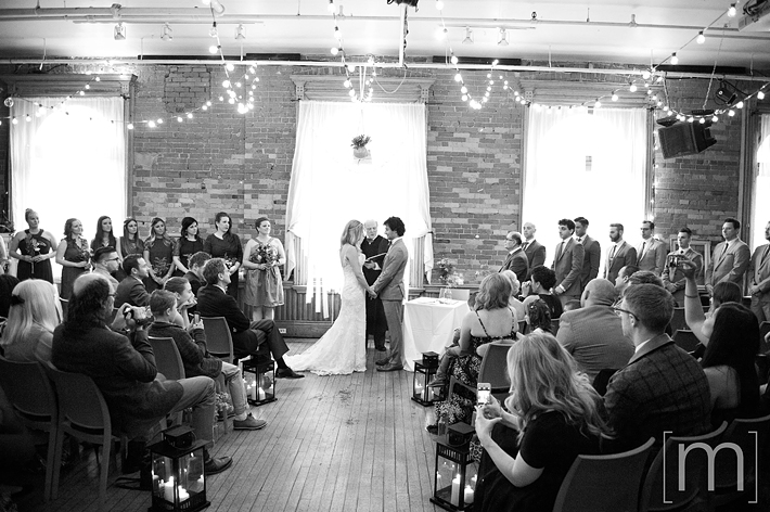 a photo of a ceremony at a wedding at the gladstone hotel toronto