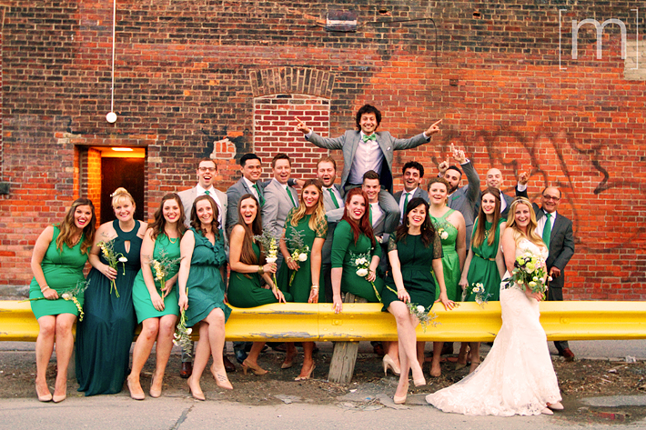a photo of the wedding party at a wedding at the gladstone hotel toronto