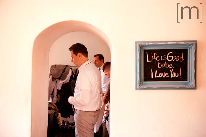 a photo of the groom getting ready at a wedding at the gladstone hotel toronto
