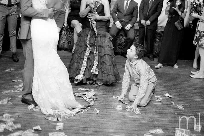 a photo of the reception money dance at a wedding at the gladstone hotel toronto