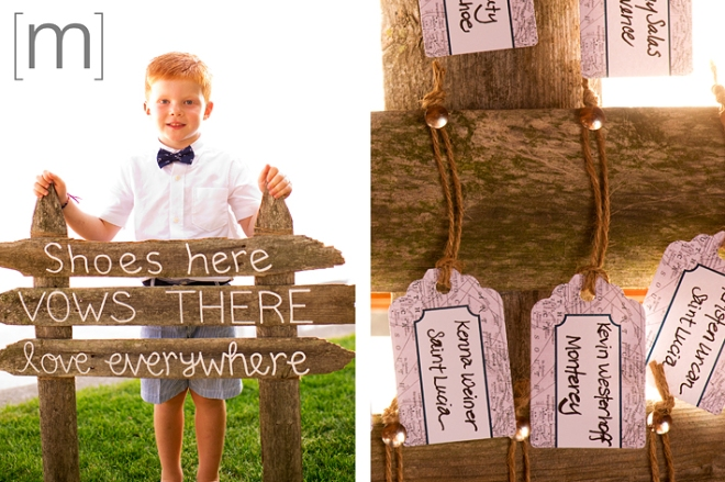 a photo of a cute sign at a wedding at buffalo canoe club fort erie